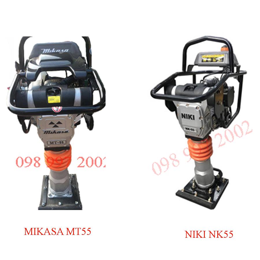 So sánh máy đầm cóc Mikasa MT55 và máy đầm cóc Niki NK55